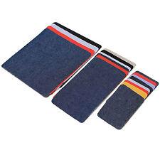 18 Bügelflicken zum aufbügeln Jeansflicken Jeans Flicken SET verschieden Farben