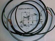 IMPIANTO ELETTRICO ELECTRICAL WIRING VESPA 50 SPECIAL CON SCHEMA ELETTRICO