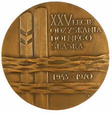 Poland 1970 25TH ANNIVERSARY POLISH MEDAL bronze 70mm