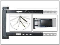 Wandhalterung LED LCD HD UHD TV Halterung 180° schwenkbar flach starr schmal S91