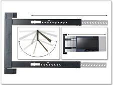 Supporto a parete LED LCD HD UHD STAFFA TV 180 ° ORIENTABILE PIATTO RIGIDO SOTTILE s91