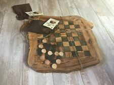 New Luxury Italy Arte Legno Hand Crafted Olive Wood Chess Set Made In Italy