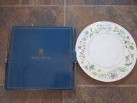 Beautiful Boxed Royal Worcester Arcadia Fine Bone Chine Cake Plate/Cheese Stand