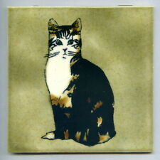 "Screen printed 6""sq studio tile by Fiona Cutting, Withersdale Tiles, c1975"