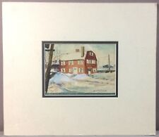 IRENE ROSS ROBINSON__3 Front St Marblehead MA__1957__Gouache/Paper__SHIPS FREE