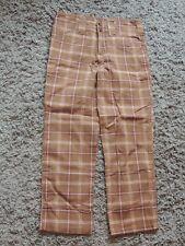 Wearever girl brown plaid capris size 10