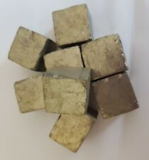 FOOLS GOLD IRON PYRITE CUBES NATURAL CUBIC CRYSTALS MINERAL SPECIMEN