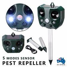 AUS Ultrasonic Pest & Animal Repeller Motion Sensor Possum Bird Rat Repellent