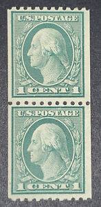 TRAVELSTAMPS: US Stamps Scott #486, 1c Washington Coil Pair Mint NG