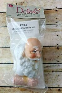 "New Mangelsen's Porcelain Doll 3 1/2"" Santa Head and Hands Set #161-04"