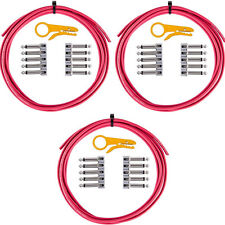 LAVA Cable Tightrope Solder-Free Patch Kit 30' Cable 30 RA Plugs (Red)