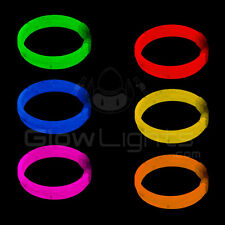 "(33) 8"" TRIPLE GLOW STICKS BRACELET WRISTBANDS - ASST COLORS - GLO LITE PARTY"