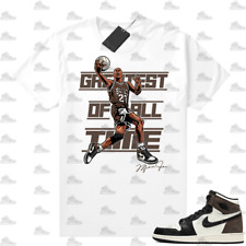 New listing 1 Mocha shirts White The Greatest Of All time V2, Sneaker Match Unisex tee