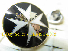 St. John Ambulance Brigade Black & White Enamel Tie Pin / Lapel Badge
