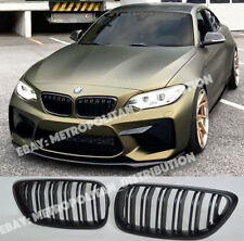 BMW 2,F22/F23/F87,coupe/convertible,dual/double slat/bar M2 grille,Matte Black