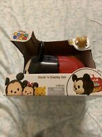 Disney 5 Piece Tsum Tsum Stack'n Display Set Mickey Mouse & Handle Carrier NIB