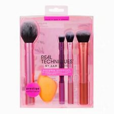 New Real Techniques Makeup Brushes Set Foundation Smooth Blender Sponges Puff