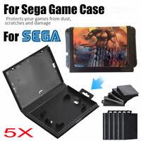 5Pcs Plastic Empty Game Shell Case Protective Box For Sega Genesis Cartridge