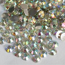 1000X 3mm Piedras Cristal AB Diamante de Imitación de Resina para Manicura DIY