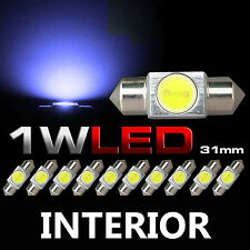 10x Blue Festoon 31mm 1W LED Car Map Dome Interior Light DE3175 3022