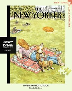 NEW YORK PUZZLE COMPANY NYPC 500 Pc Puzzle – To Fetch or Not to Fetch 04650
