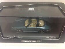 Minichamps Porsche 911 Targa 1977 G-Mod Türkis Blau turquoise blue metallic 1:43