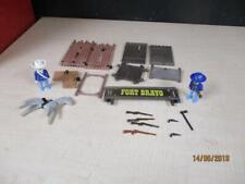 Vtg 1970's Playmobil Western Fort Bravo Lot