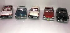LOT Vintage Franklin/Danbury Mint FIVE Cars1949-1958 Pontiac,Ford, Mercury,Buick