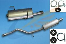 PEUGEOT 206 CC 2.0i 2000-2007 Full exhaust from CAT