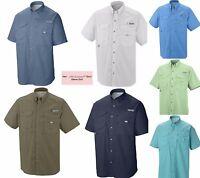 NEW COLUMBIA MEN'S PFG BONEHEAD™ SHORT SLEEVE SHIRT, Size S,M,L,XL, XXL