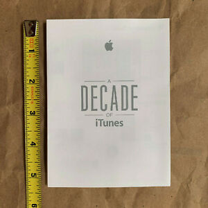 "Apple Employee ""A Decade of iTunes"" mini poster"