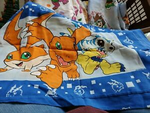 Digimon Digiblast Anime Flat Twin Bed Sheet & pillowcase Fabric Vintage