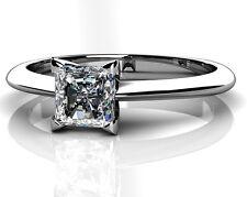 Women Sterling Silver 1.2 Carat Stone Wedding Bridal Engagement Ring Size 10 R46