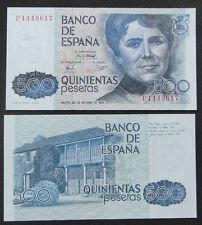 Spain 500 Pesetas BANKNOTE 1979 UNC,ROSALIA DE CASTRO