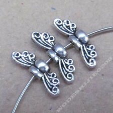 30pc Retro Tibetan Silver Bee Angel wings Spacer Beads Findings PJ0227