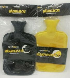 Wärmeflasche ohne Bezug 2l ✅ Naturgummi Bettflasche Gummi Wärme Flasche NEU✅