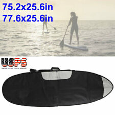 Surfboard Bag Storage w/Zipper & Shoulder Strap for Shortboard Longboard Black