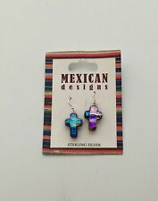New Mexican Designs Cross Earrings Jewelry Sterling Silver 925