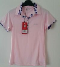 Slazenger womens polo shirt pink size uk 8 XS RRP £34.99 NEW
