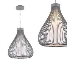 [lux.pro]® Lámpara colgante de diseño tipo jaula gris de metal celosía