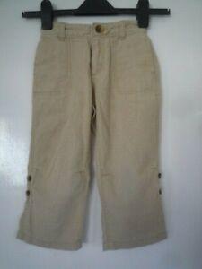 Gap toddler trouser. Beige. Age 3. Roll up legs. 55% Linen, 45% Cotton