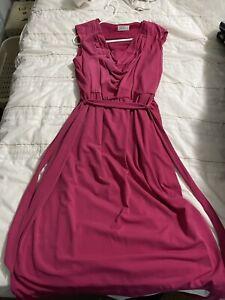 GRACE HILL PINK WOmens  DRESS SIZE Medium 12-14 Free Gift Xmas Dress