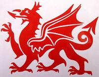 2 x Welsh Dragon CYMRU Wales Vehicle Stickers Car Van Bike Decal