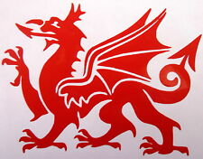 2 x Welsh Dragon CYMRU Wales Vehicle Stickers Car Van Bike Decal