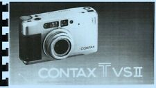 Contax TVS II Instruction Manual reprint English French German Spanish