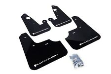 Rally Armor Mud Flaps Guards for 08-15 Lancer & Ralliart (Black w/White Logo)