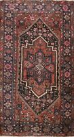 Vintage Traditional Geometric Area Rug Wool Hand-knotted Oriental Carpet 4x7