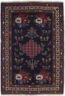 Tribal Animal Design Hand Woven 4X6 Sumak Area Rug Oriental Flat Wool Carpet