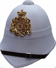 24th Regiment British Military Pith Helmet Badge Plate Boer Zulu War Hat White