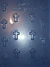 14 SMALL PLAIN CROSS SHAPES CHOCOLATE MOULD
